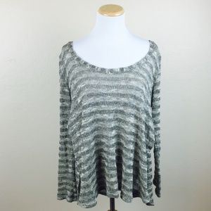 5/ $25 Windsor Gray Open Sides Oversized Knit Top